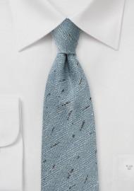 Light Blue Herringbone Wool Tie