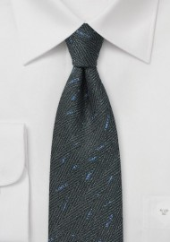 Smoke Gray Herringbone Tie