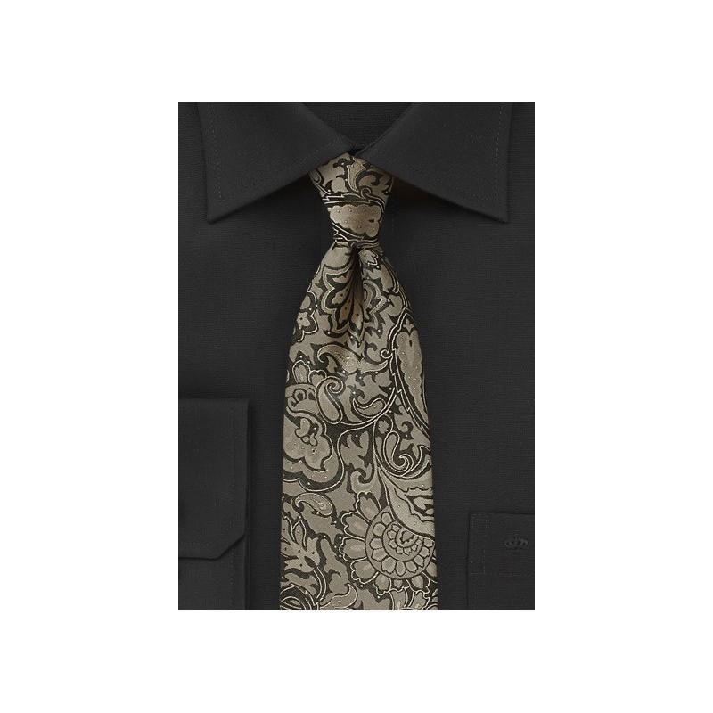 Golden Bronze Extra Long Necktie