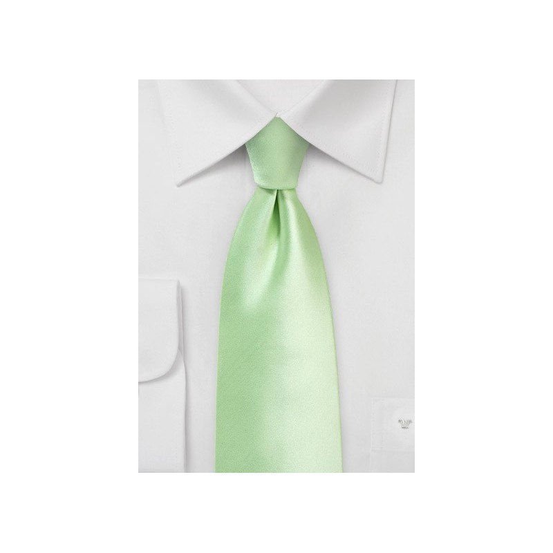 Soft Mint Wedding Tie in XL