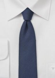 Solid Wool Tie in Navy