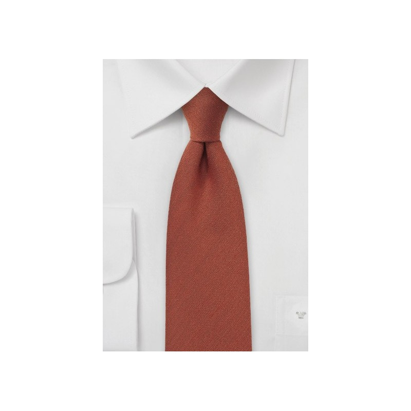 Cinnamon Wool Tie