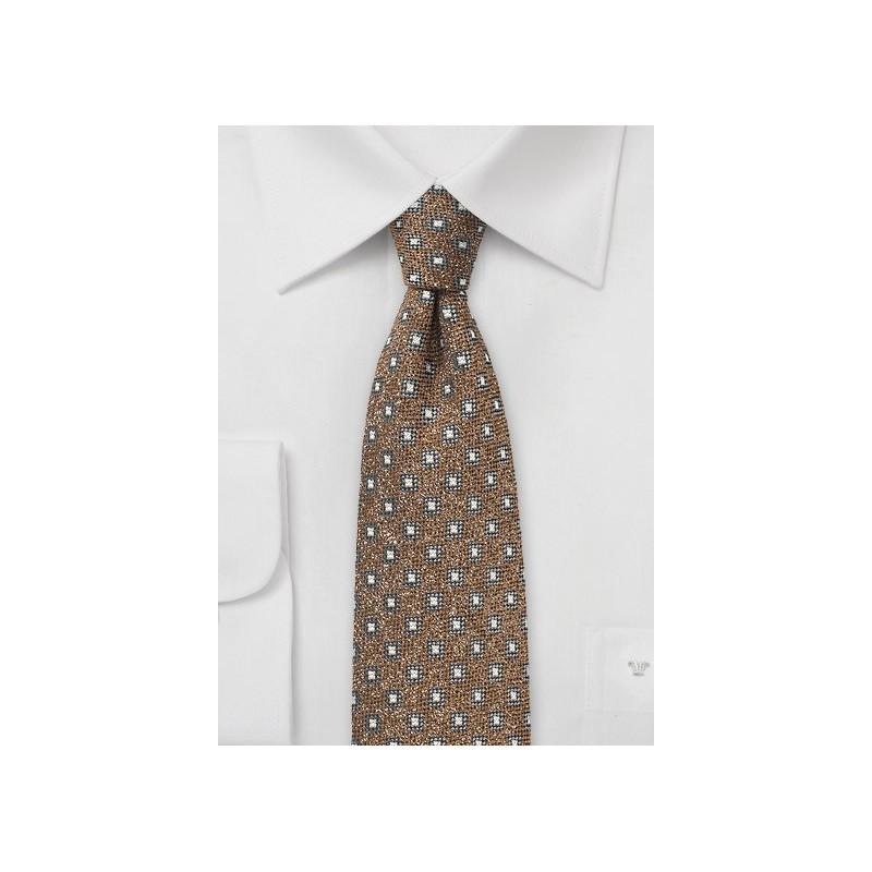 Hazel Hued Wool Tie