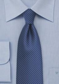 Dark Blue Kids Tie with Pencil Stripe