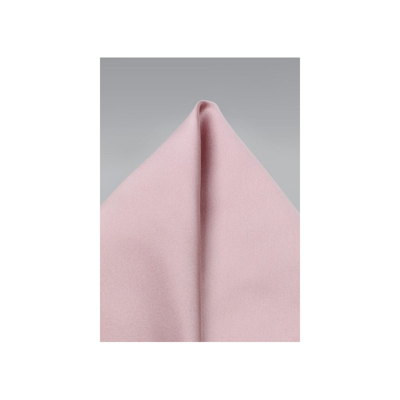 Soft Pink Colored Pocket Square