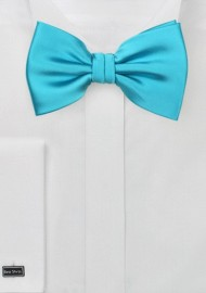 Bright Aqua Mens Bow Tie