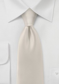 Mens Tie in Soft Cream
