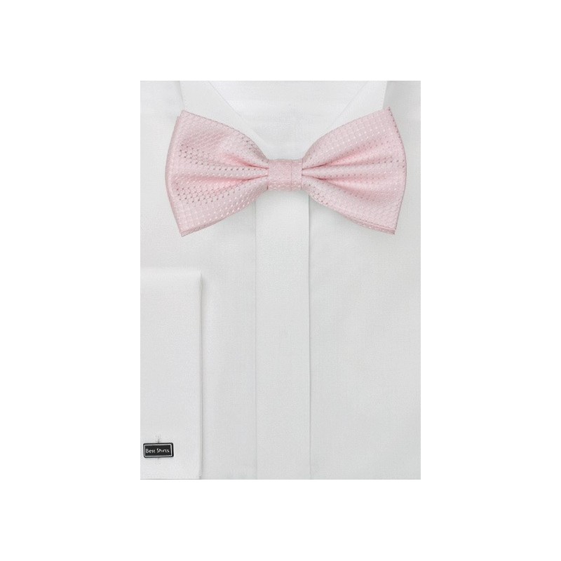 Textured Pink Mens Bow Tie