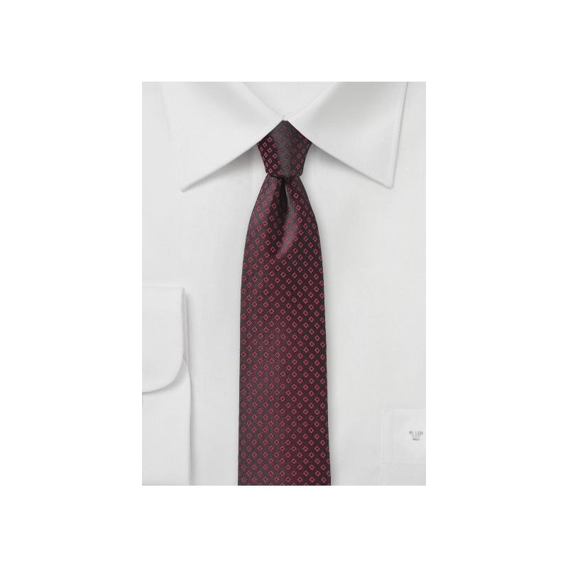 Dark Port Red Skinny Tie