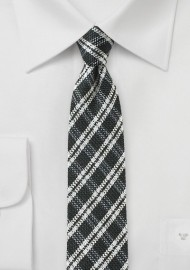 Window Pane Check Tie in Black and White
