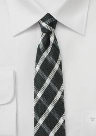 Windowpane Check Skinny Tie