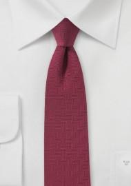 Herringbone Tie in Rosewood