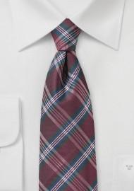 Classic Mens Tartan Plaid Tie