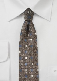 Tobacco Tie with Geometric Design