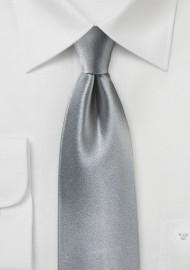 Satin Silk Tie in Dove Gray