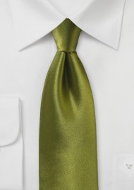 Moss Green Satin Silk Tie