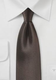 Dark Chocolate Solid Silk Tie
