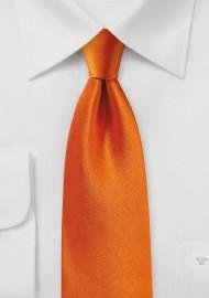 Persimmon Orange Satin Silk Tie