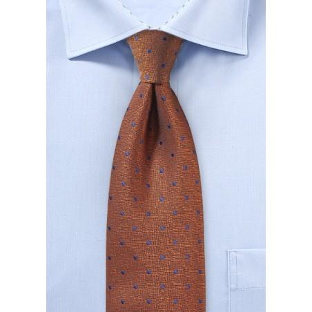 Textured Polka Dot Tie in Copper