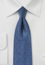 Indigo Textured Polka Dot Tie