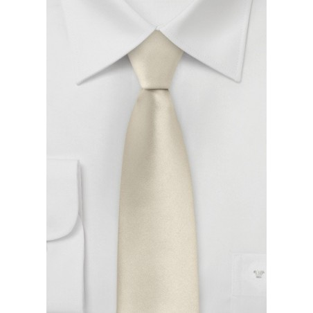 Solid Skinny Tie in Champagne