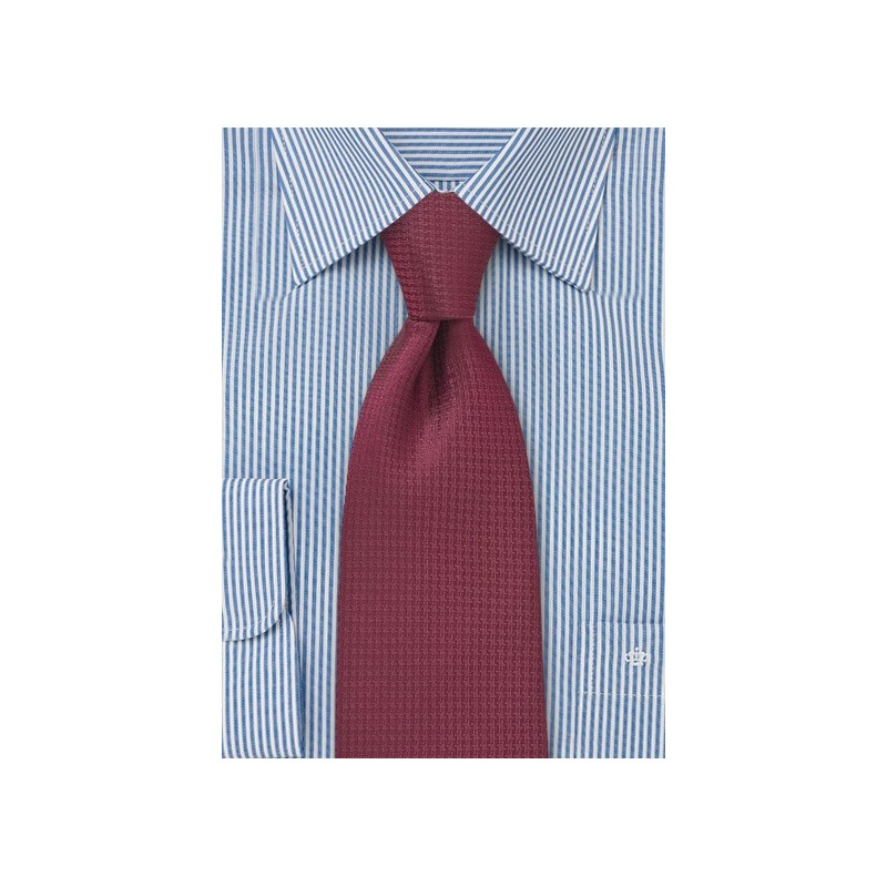 Merlot Red Tie in XL Length