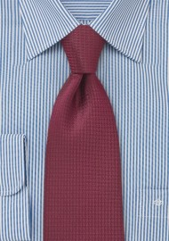 Merlot Red Kids Tie in Micro Check