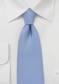Light Blue Matte Finish Tie in XL