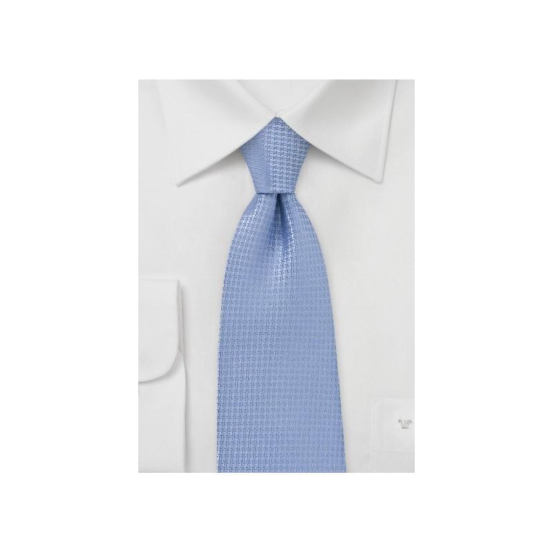 Light Blue Matte Finish Tie in XL
