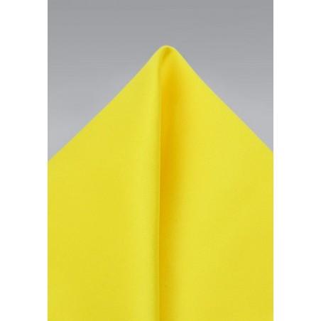 Canary Yellow Mens Pocket Square