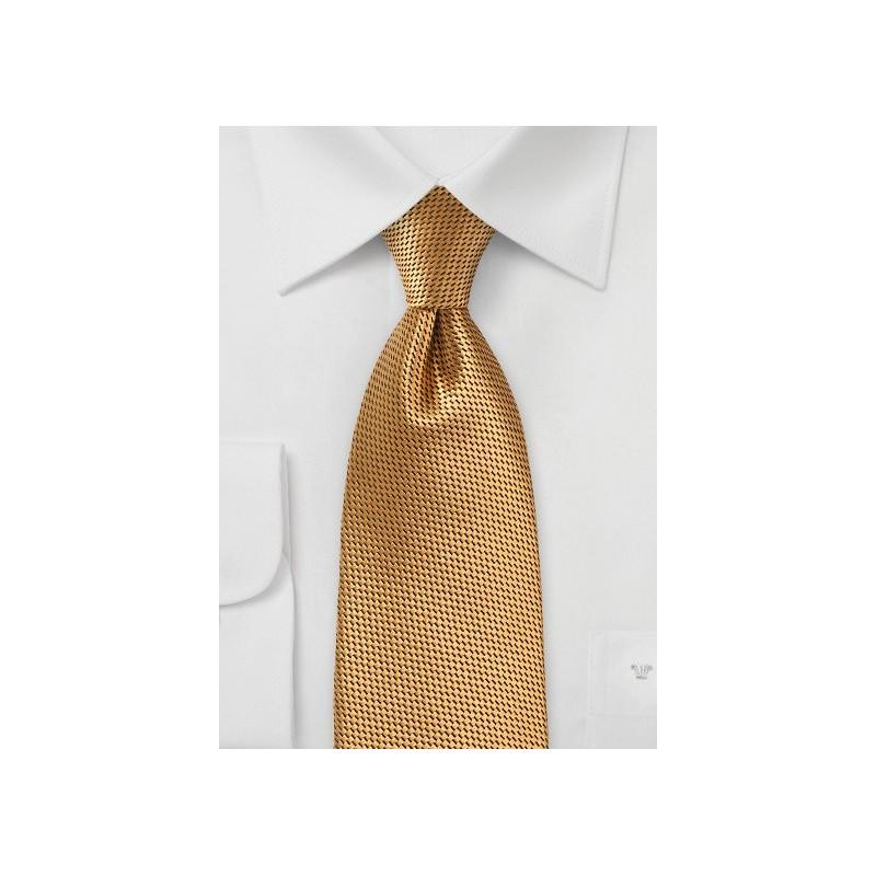 Gold Colored Kids Necktie