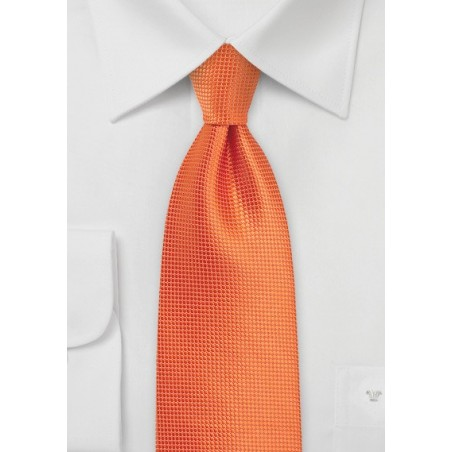 XL Length Tie in Carrot Orange