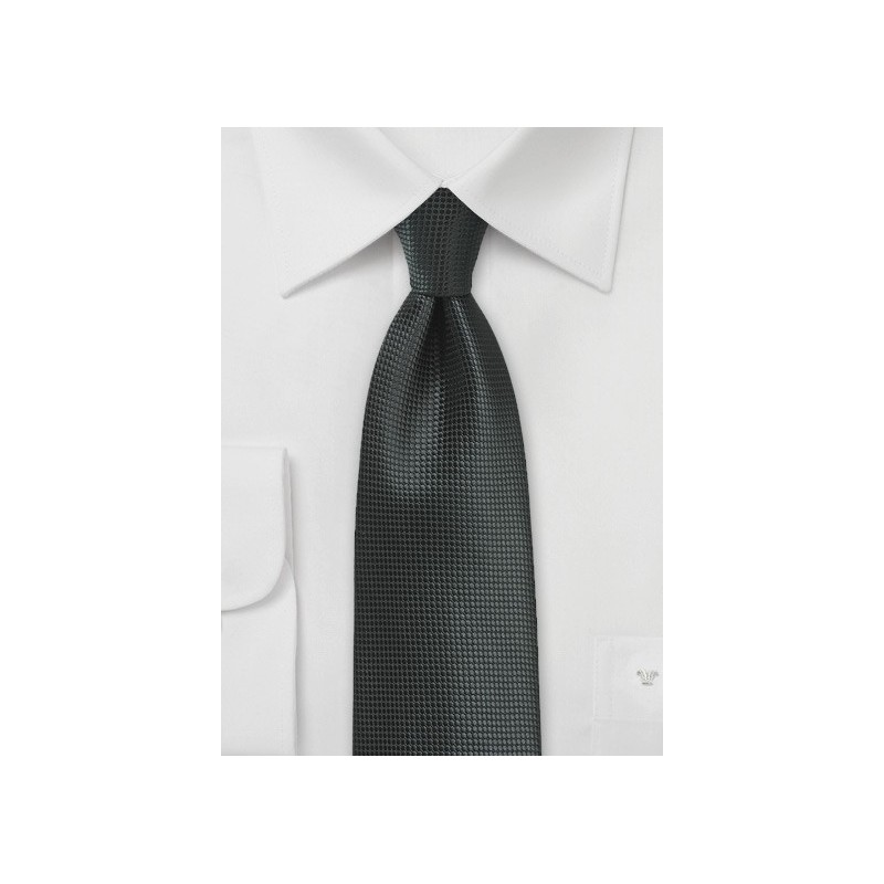 Jet Black XL Size Mens Tie
