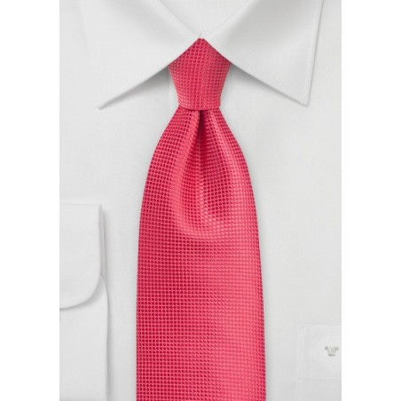 Spiced Coral Tie in XL Length