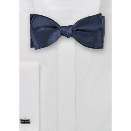 Classic Navy Self Tied Bow Tie