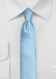 Mens Skinny Tie in Light Blue