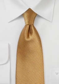 Textured XL Length Tie in Rich Gold