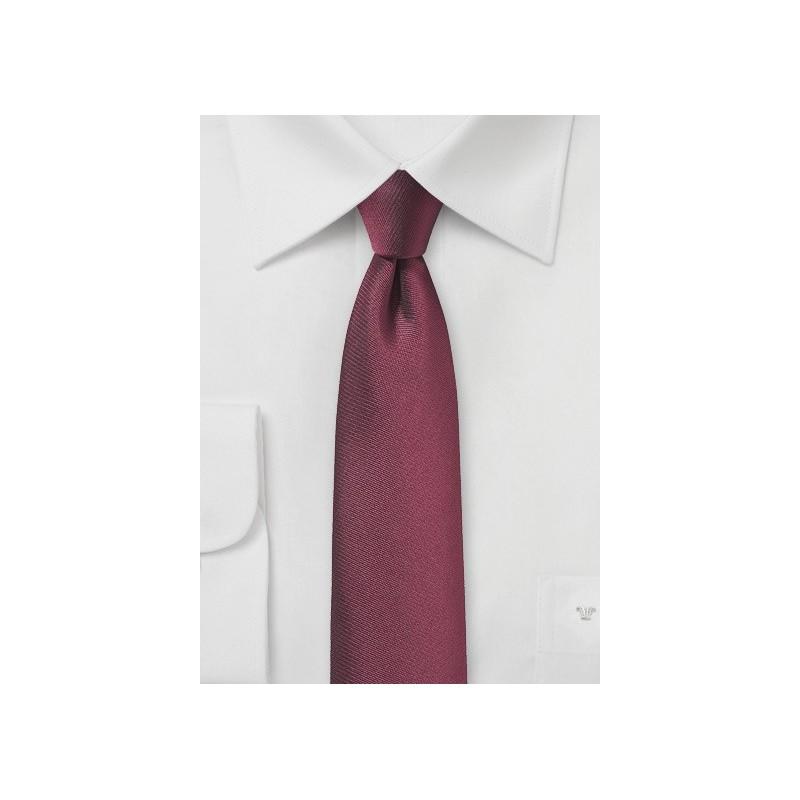Matte Burgundy Skinny Necktie