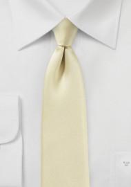 Vanilla Cream Skinny Necktie