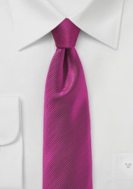 Raspberry Red Skinny Tie