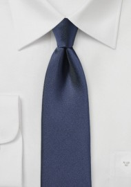 Matte Finish Skinny Tie in Dark Blue