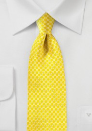 Sunbeam Yellow Silk Tie