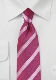 Flamingo Pink Designer Silk Tie