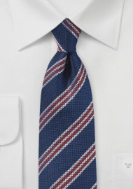 Coarse Weave British Striped Tie