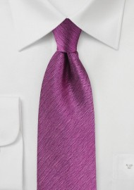 Herringbone Silk Tie in Magenta