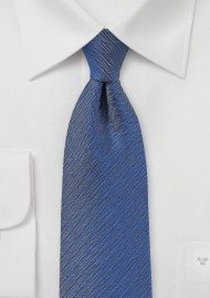 Woven Herringbone Tie in Denim Blue