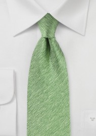 Light Fern Green Herringbone Tie
