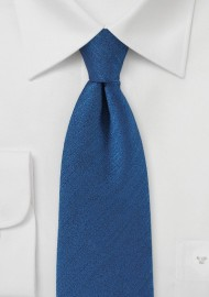 Vintage Textured Tie in Nautical Blue