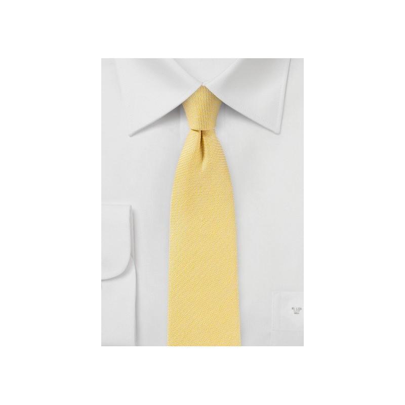 3e4622de9e1e8 Linen Summer Tie in Banana Cream