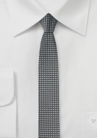 Super Skinny Tie in Graphite Gray